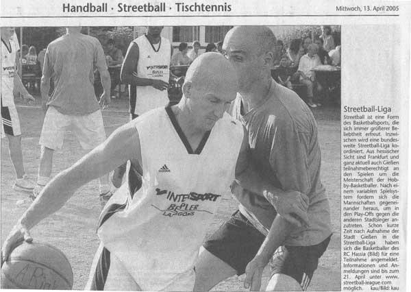 Streetball League - Giessener Anzeiger 2005